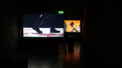 Artworks by Valeriu Şchiau (front) and Elana Katz (back). Photo credits: Ciprian Ciuclea